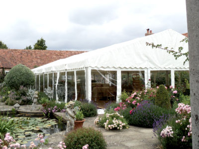 Framed Marquee in Enclosed Garden