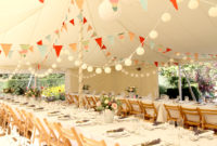 Wedding reception multi-coloured bunting